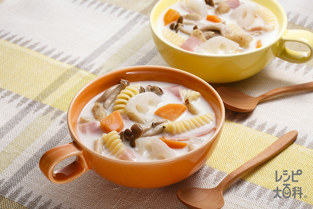 根菜たっぷりミルクスープ